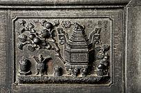 砚石浮雕 宝鼎图案