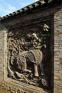 麒麟砖墙装饰