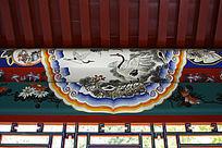 长廊彩绘松鹤图案