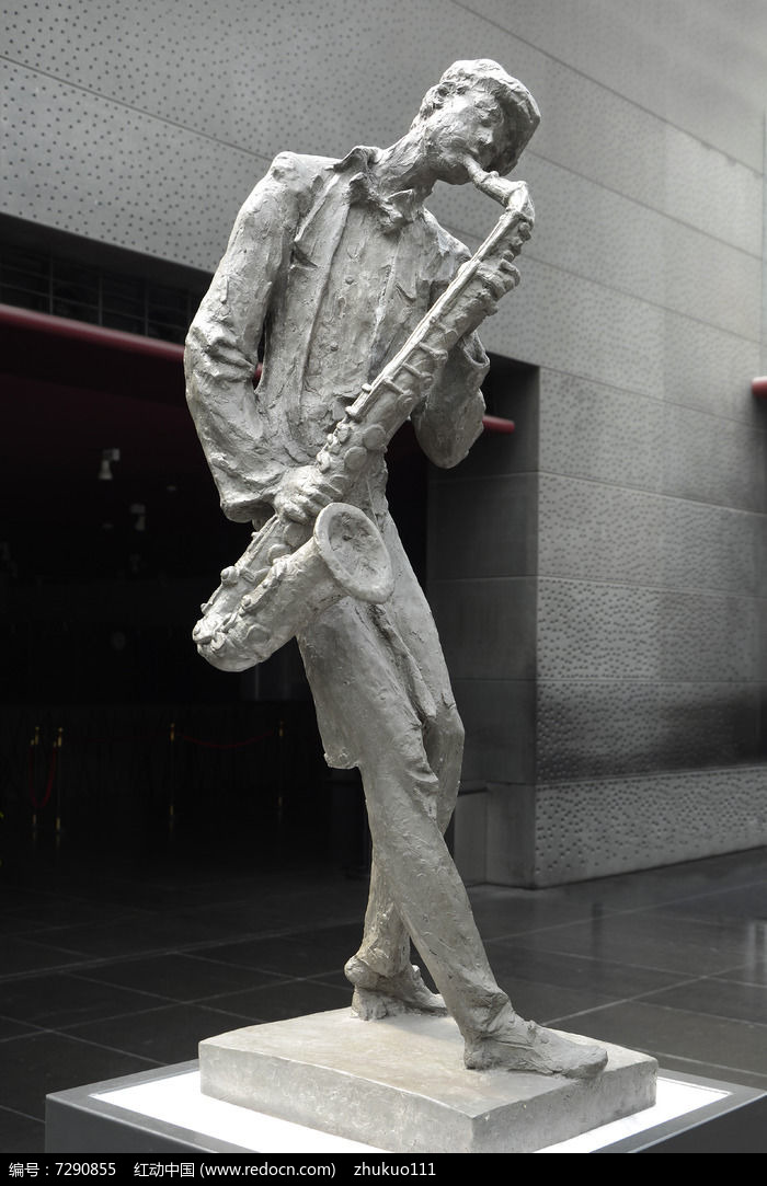 雕塑萨克斯风