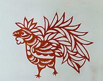 古代鸡剪纸