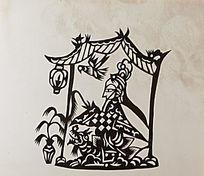 古代女子剪纸