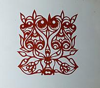 古代树剪纸