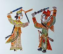 古代舞刀剪纸