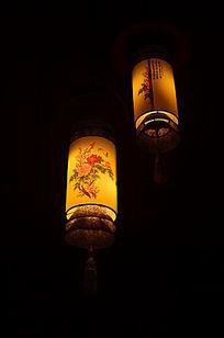古典牡丹花图案灯笼