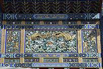 古建木雕彩绘凤凰纹样