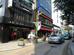 韩国街区拍摄