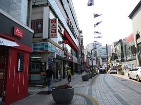 韩国街区拍摄图片