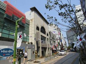 韩国街区拍摄照