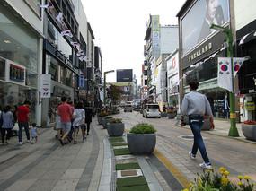韩国街区图片拍摄