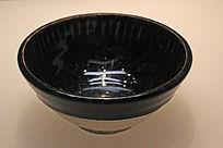 河北观台窖黑釉划纹碗