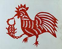 鸡与蝎剪纸