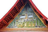 老挝民族风情墙画