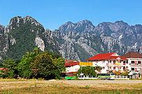 老挝万荣山脉