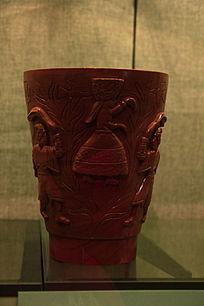 木雕图案大口瓶