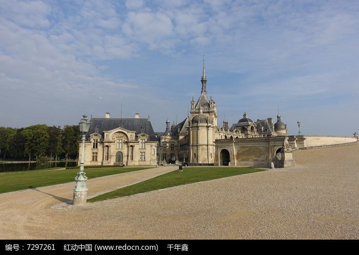 欧式古堡建筑群高清图片下载 红动网