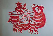 骑骆驼剪纸