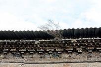 石窑洞的房檐