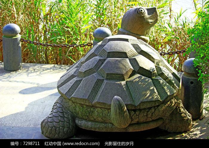 乌龟石雕图片