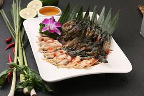 香茅酱蒸虾蛏