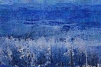 电脑油画《雪森林》