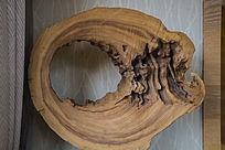 镂空木块横切面家居装饰