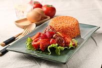 牛肉粒配番茄炒饭