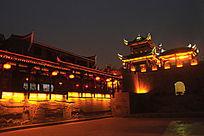 乾州古城广场夜景