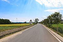 乡村的水泥路
