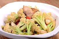 封缸肉炒有机花菜