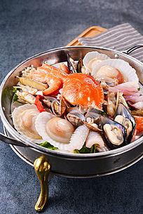 海鲜大火锅