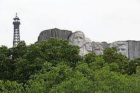石头雕像人物壁画