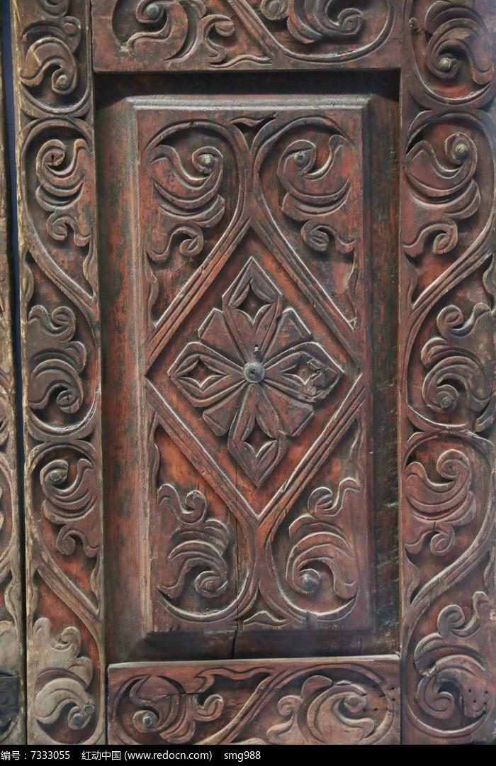 19世纪哈萨克人木雕图案图片,高清大图_雕刻艺术素材
