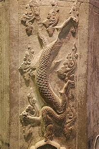 辽代永乐石塔雕龙构件