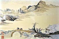 苏绣山水桥