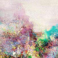 抽象的油画