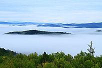 大兴安岭云雾风景