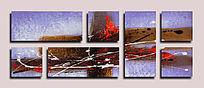 组合艺术画 抽象油画