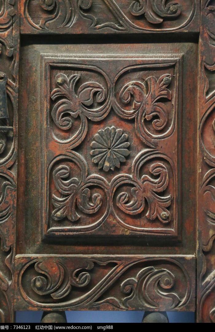 19世纪哈萨克人木雕花纹高清图片下载 编号7346123 红动网