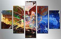 现代简约风格抽象油画装饰画