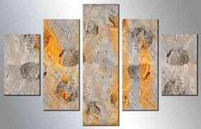组合五联抽象油画