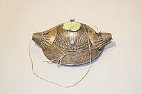 藏族银嵌绿松石头饰