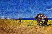 电脑油画《草原风景》