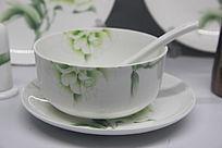 骨质瓷山茶花餐具