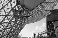 世博源结构拍摄-黑白