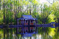 湖岸小木屋