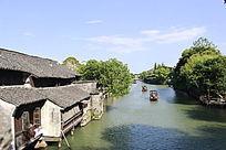 乌镇河道沿景