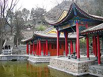 冬天的兴庆宫古建筑景观