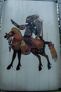 古代骑马剪纸