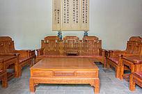 中式客厅木桌